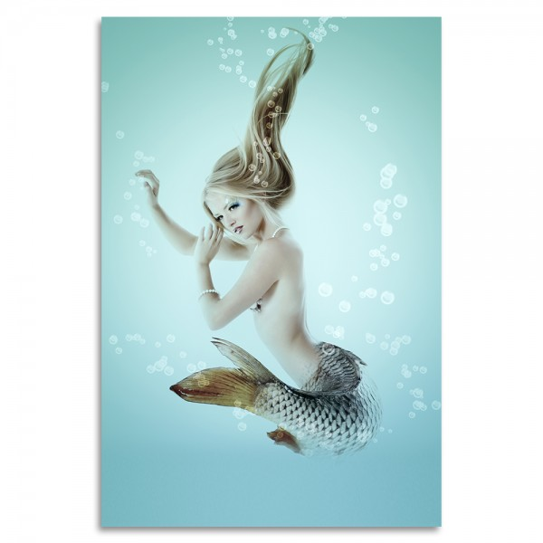 """Blonde Mermaid"" Acrylglasbild"