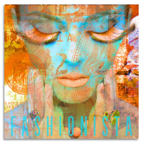 """Fashionista Orange"" Acrylglasbild"