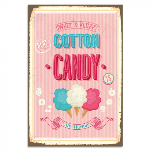 """Cotton Candy"" Blechschild"