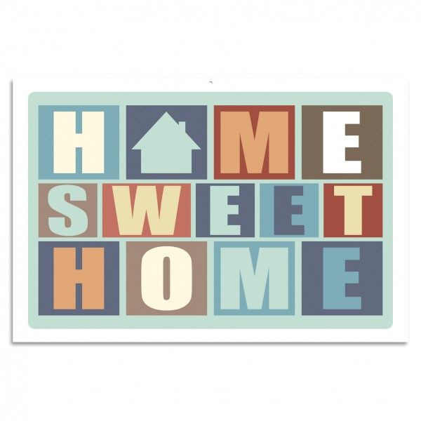 """HOME SWEET HOME"" Blechschild"