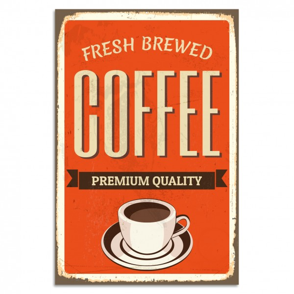 """Fresh Brewed Coffee"" Blechschild"