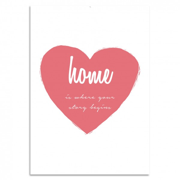 """Home Is Where Your Story Begins! Blechschild"