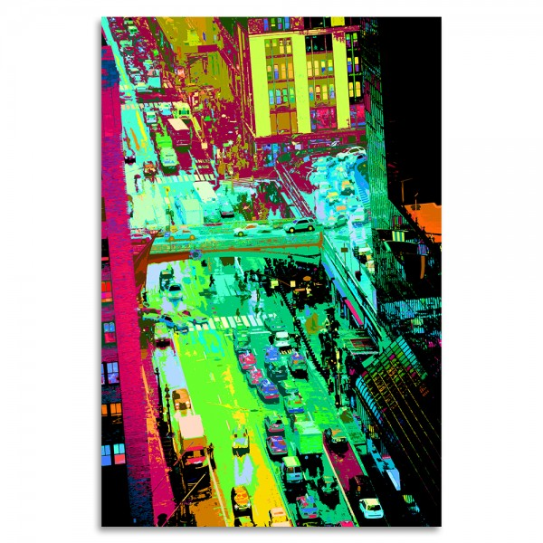 """NYC Color"" Acrylglasbild"