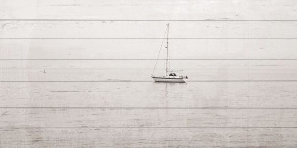 """On The Sea"" Holzbild"
