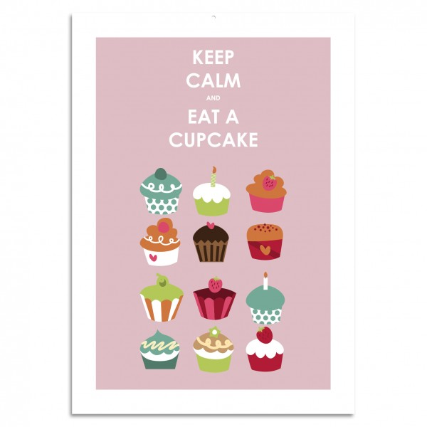 """Keep Calm Eat A Cupcake"" Blechschild"