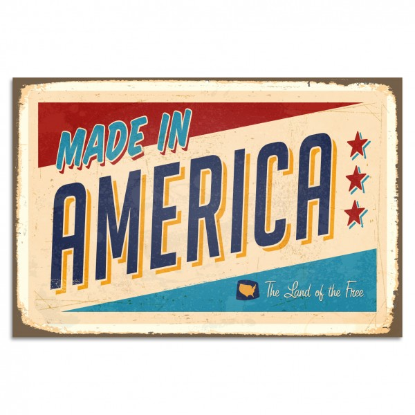 """Made In America"" Blechschild"