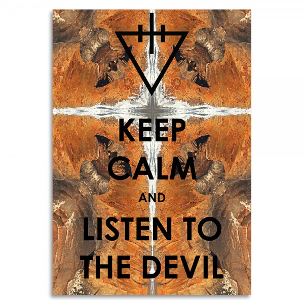"""Keep Calm and Listen to the devil"" Acrylglasbild"