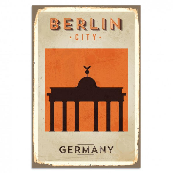 """Berlin City - Germany"" Blechschild"